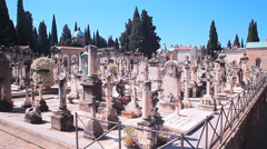 Historical cemetery florence porte sante Stock Footage