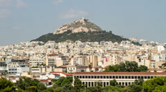Lykavittos Hill, Athens, Greece - High Quality Timelapse - 4096X2304 Stock Footage
