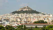 Stock Video Footage of Lykavittos Hill, Athens, Greece - High Quality Timelapse - 4096X2304