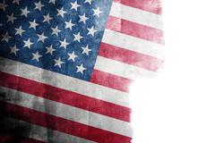 Grunge American flag - stock photo