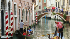 Timelapse Venice canal Stock Footage