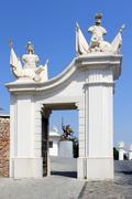 Gate detail of Bratislava castle situated on a plateau 85 metres - stock photo
