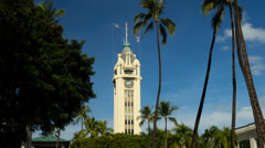 Aloha tower, leis, honolulu, oahu, hawaii. Stock Footage