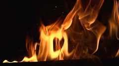 Fire Pit - Slow-Motion Clip 1 (Extreme Close Up) Stock Footage
