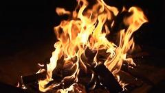 Fire Pit - Slow-Motion Clip 6 (Medium / Close Up) Stock Footage