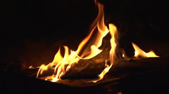 Fire Pit - Slow-Motion Clip 1 (Close Up) Stock Footage