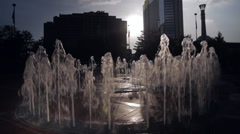 Centennial Olympic Park Fountain at Dusk Stock Footage