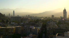 Santiago de Chile sunrise and traffic time lapse Stock Footage