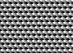Abstract geometric pattern as monochrome background - stock photo