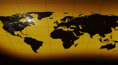 Yellow abstract bakground world line different rendering Stock Footage