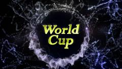 World Cup Gold Text in Particles Stock Footage