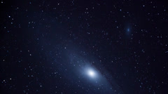 Stock Video Footage of Andromeda Galaxy Moving Across Frame