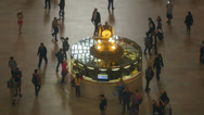 Stock Video Footage of Grand Central Terminal Main Concourse High Angle 1