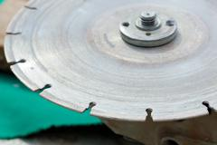 Diamond disc for angle grinders Stock Photos
