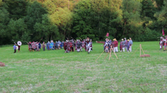 Roman army is attacked by enemies Stock Footage