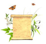 Stock Illustration of Message of nature