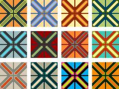 Traditional pattern - stock illustration