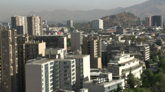 Zoom out from downtown Santiago de Chile Stock Footage