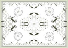 Stock Illustration of Decorative antique oriental pattern .