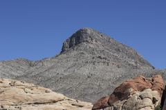 Mesa above Red Rock Canyon - stock photo