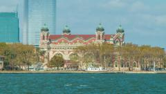 Ellis Island Immigration Museum Great Hall Stock Footage