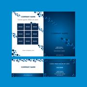brochure and business card template vector - stock illustration