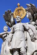 George gordon Meade memorial civil war statue washington dc.   Stock Photos