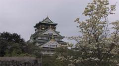 Osaka Castle, Japan Stock Footage