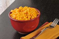 Macaroni and cheese in a bowl Stock Photos