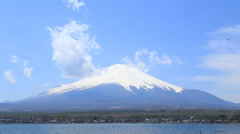 Mt.Fuji at Lake Yamanaka, Japan Stock Footage