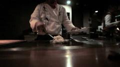 Kyoto Steak and Seafood restaurant Teppanyaki Japanese Japan Stock Footage