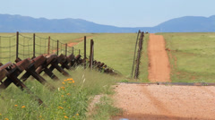 Fence at US/Mexico Border Stock Footage