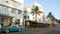 South Miami Beach, Ocean Drive Stock Footage