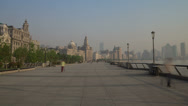 Stock Video Footage of Bund embankment day walk hyperlapse 4K