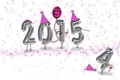 New Year humor for 2015 - stock illustration