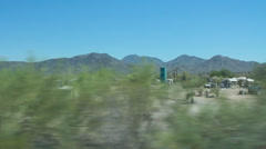 Passing Shot of Desert Community Stock Footage