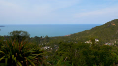 Beautiful Landscape from the Top of the Island. Optical zoom. Stock Footage