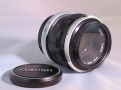 50 MM. objective of Canon photocamera - stock photo