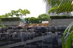 Grey Stone Water Feature - stock photo