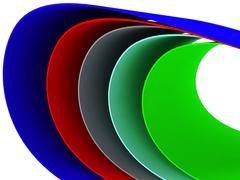 Multi colored curves - stock photo