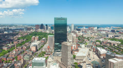 4K Aerial timelaspe of Boston skyline - Massachusetts - USA - stock footage