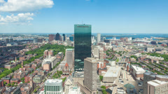 4K Aerial timelaspe of Boston skyline - Massachusetts - USA - stock footage