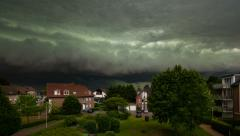 Approaching Thunderstorm Timelapse 4K Stock Footage
