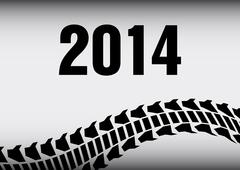 Tire track 2014 background Stock Illustration