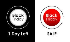 Black friday banners,vector design,special sales, promotional and advertising Stock Illustration