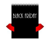 Special black friday with metallic spiral Stock Illustration