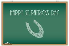 St patricks day background, chalkboard with special design Stock Illustration