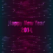 Happy new year background with plasma design Stock Illustration