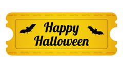 halloween party ticket with special design - stock illustration