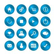 various web icons with special design - stock illustration